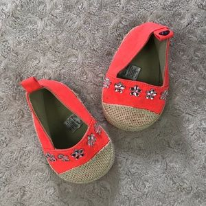 First Steps Baby Girl Shoes Orange Tan 6-9 Months
